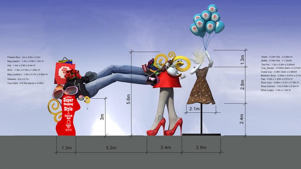 11 Shopping Mall Outdoor Branding Design Concept   Shade CGI Ltd